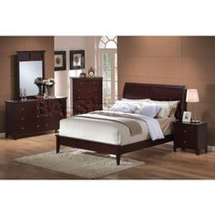 Soho Furniture Showrooms | Beds: Soho Casual Low Profile Sleigh Bed In  Espresso   Acme