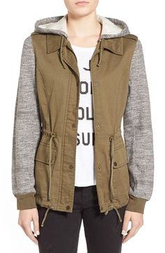 Coffee Shop Mixed Media Anorak available at #Nordstrom