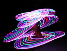 LED hula hoops