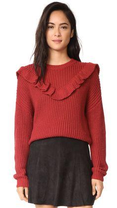 Blank Denim Poppy Sweater In Red Diane Von Furstenberg, Moschino, Rebecca Minkoff, Blank Denim, Beach Wear, Boutique, Cute Woman, Denim Fashion, Acne Studios