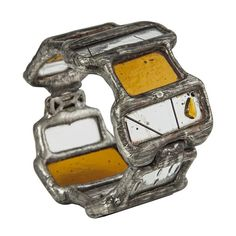 Amazing Hinged Stained Glass Bracelet by Etta Kostick from http://www.circleandsquaresf.com/store/short-hinged-bracelet.html#