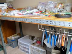 Craft Workbench Tip: Attach a yardstick to The Edge of Your Table or Bench #jewelrymaking