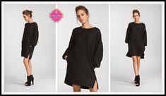 Lauren Sweatshirt Dress in Black