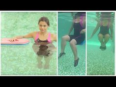 Aquafit: Strengthening core muscles with kickboard and dumbbell - DIY aqua aerobics, pool exercises - YouTube