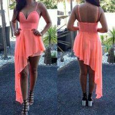 Peach neon dress