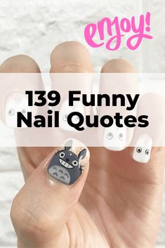 The ulimate list of nail quotes images. Funny nail quotes, pedicure quotes, manicure quotes and nail polish quotes. Nail puns and saying that are perfect for captions, business cards, and websites. Manicure Quotes, Nail Polish Quotes, Nail Quotes, New Nail Polish, Nail Manicure, Manicures, Cosmetology Quotes, Salon Quotes, Nail Salon Design