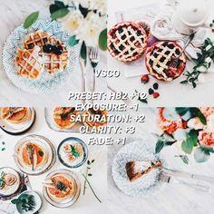 VSCO Filters for Food – VSCO FILTER HACKS White Instagram Theme, White Feed, Best Vsco Filters, Vsco Presets, Instagram Feed, Food Photography, Ethnic Recipes, Hacks, Thoughts