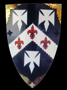 The Crusades of 1095 through 1291 AD ushered in the beginning of heraldry, as knights and warriors distinguished themselves in battle and proudly wore their coat-of-arms on their shield. The coat-of-arms was then passed from father to son, honored here with the Crusader Shield.