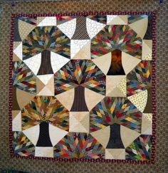Acorn's Promise Quilt. Tree scrap. WOW.