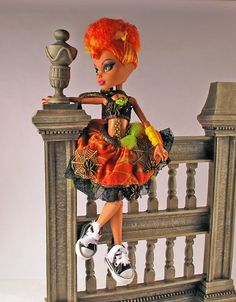 Monster High handmade doll dress with chains by aGhoulsNightOut
