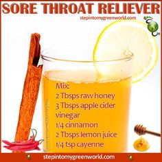 natural cold and sore throat remedy 1 tbsp apple cider vinegar 1how to get rid of sore throat