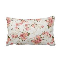 Romantic Floral rose flower pattern pillow #merrybrides