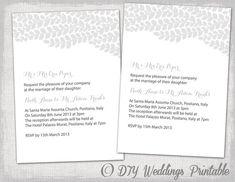 Wedding invitation template Editable Vine by diyweddingsprintable, $8.00