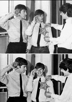 John, Ringo and George The Beatles 1, Beatles Photos, Richard Starkey, Just Good Friends, Phil Collins, The Fab Four, Wife And Girlfriend, Ringo Starr, Classic Rock