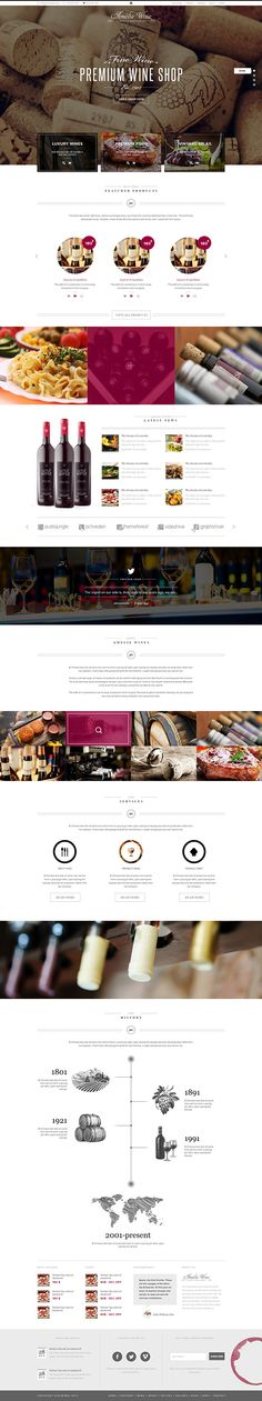 Wine - Responsive Restaurant Winery WordPress Shop by Themes Awards, via Behance