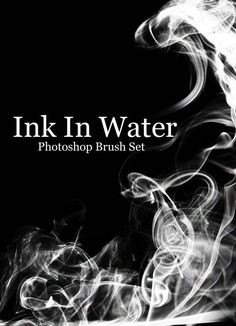 A Free Ink In Water Photoshop Brush Set
