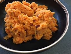 Alton Brown's Smashed Chipotle Sweet Potatoes: Although sweet potatoes can be baked or boiled, steaming is faster, easier and won't wash away any flavor. In this case, the sweetness is balanced by the smoky heat of the chiles.