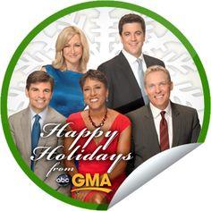Happy Holidays from GMA! Sticker | GetGlue