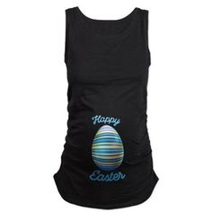 Easter Shirts With Blue Egg Maternity Tank Top