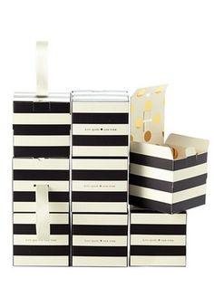 Striped favor boxes #katespade