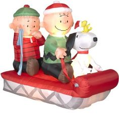 Airblown Inflatable Christmas Santa Animated Peanuts Snoopy ...