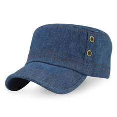 af2281ec638 Mens Women Summer Breathable Cowboy Baseball Caps Outdoor Sunscreen Visor  Flat Top Hat  HatsCaps