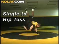 Single Leg to Hip Toss KOLAT.COM Wrestling Techniques Moves Instruction