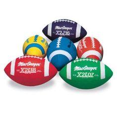 Multi-Colored Jr. Footballs, 6-Pack, Beige