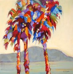 Daily Painting, Uninhibited Expression, contemporary tree painting, painting by artist Carolee Clark