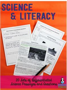 Science & Literacy: 20 differentiated set of passages, multiple choice, short answer, and extended response (Paid resource great for 4th-5th)