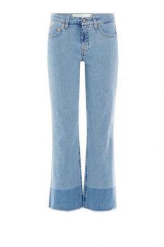 Victoria Beckham Denim Victoria Beckham Denim Cropped-Flared-Jeans mit…