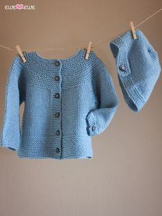 Ewe So Sporty Beanie and Buttons Baby Set Knitting Pattern