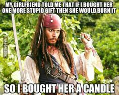 How this has to do with captain jack sparrow I have no idea.