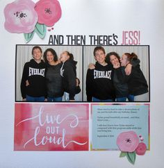 I used Pink Paislee's Paige Evans Fancy Free papers on this layout