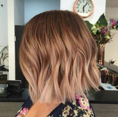 Red copper ombré balayage