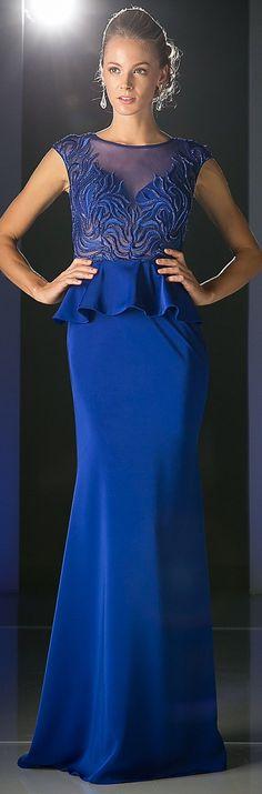 Peplum Illusion Top Cap Sleeves Floor Length Royal Blue Evening Gown #discountdressshop #royalblue #peplum #eveninggown Royal Blue Evening Gown, Evening Gowns, Royal Blue Dresses, Prom Dresses, Formal Dresses, Cap Sleeves, Peplum, Floor, Tops