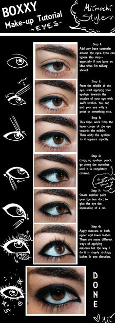 Boxxy eye make-up tutorial by Miimochi