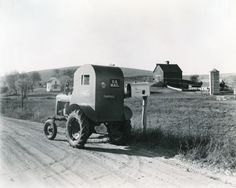 Farmall A used for rural mail delivery. 1941, Iowa. http://www.wisconsinhistory.org/Content.aspx?dsNav=Nrc:id-5,N:4294963828-4294955414