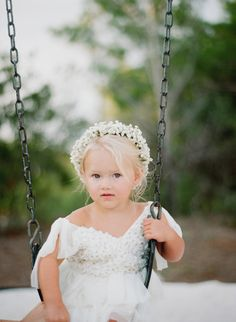 The sweetest little flower girl! http://www.stylemepretty.com/florida-weddings/panama-city/2015/11/18/sophisticated-beachside-wedding-in-florida/   Photography: Pure7 Studios - http://pure7studios.com/