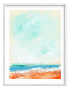 """Beach Blaze"" - Art Print by Lindsay Megahed in beautiful frame options and a variety of sizes."