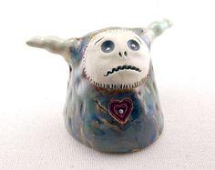 Monster Sculpture Stoneware Ceramic Monster by DragonStarArt, $135.00