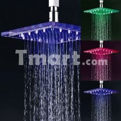 Home Improvement Shower Equipment Trend Mark 7colors Colorful Led Shower Head Changing Shower Head No Battery Led Waterfall Single Shower Head Round Bathroom Accessories Dependable Performance