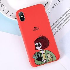 Phone Case For iPhone 6 6s 7 8 Plus X XR XS Max Cute Green Cactus Pott – elegantonlinemarket