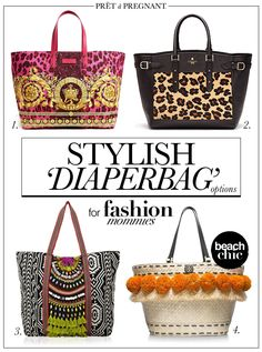 Picture: Stylish Diaperbag Options for Fashion Mommies