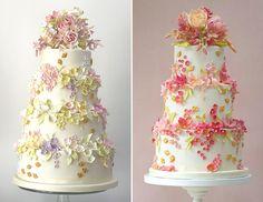 """Sim, a gente ama o tema """"jardim encantado""""! Já fizemos um post com vestidos dignos de contos de fadas e, agora, chegou a hora dos bolos! Apesar de o tema s"""