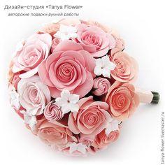 Свадебный букет с викторианскими розами