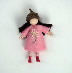 by dreamchildstudio  Little Acorn Girl -- Waldorf Inspired Doll. $12.50, via Etsy.