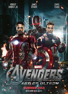 Poster Of Avengers Age of Ultron (2015) In Hindi English Dual Audio 185MB Compressed Small Size Mobile Movie Free Download Only At worldfree4u.com