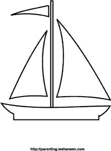 Sail Boat Coloring Page Printable Summer Colouring Sheet