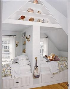 great detail with these attic built ins
